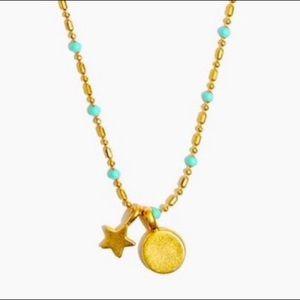 Madewell ⭐️Star Pendant Enamel Chain Necklace